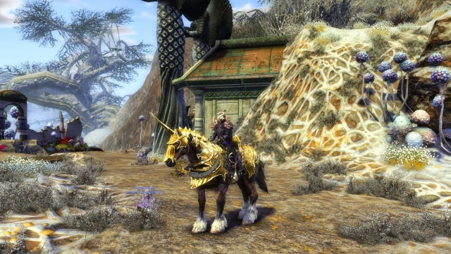 Rift Swift Gold Armored War Horse