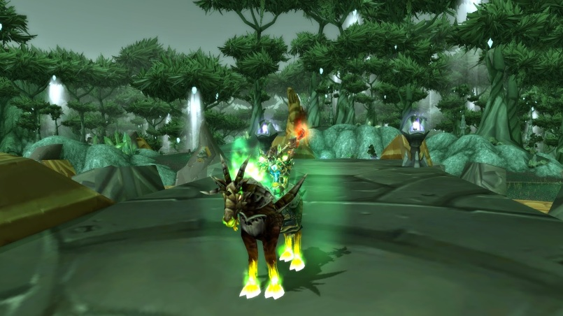 World of Warcraft Warlock Green Fire