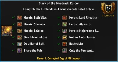 Glory of the Firelands Raider