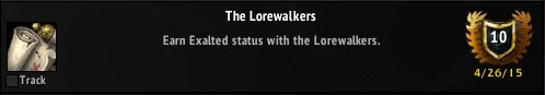 The Lorewalkers Reputation