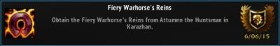 Fiery Warhorse's Reins