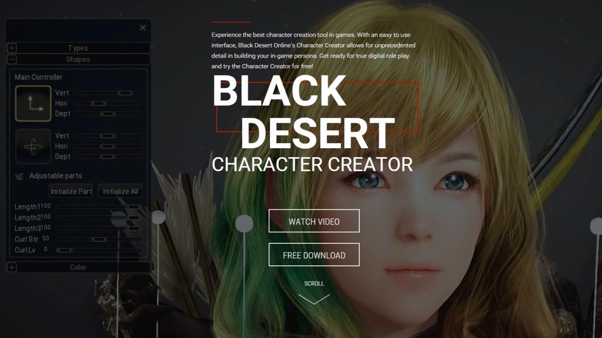 Black Desert Character Creator